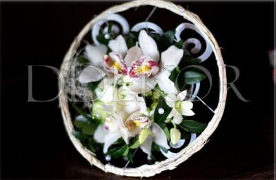 Szülő köszöntő csokor orchideával