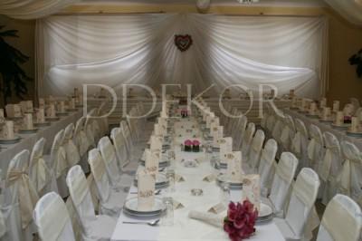 Acsa Sarokház Étterem krém pink esküvői harmónia