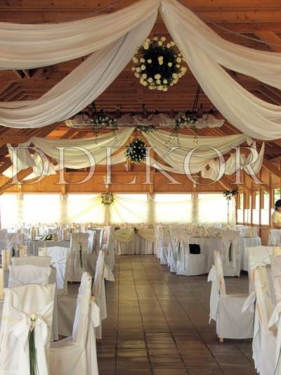 Esküvői mennyezet díszítés