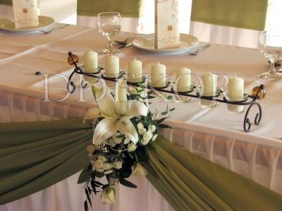 Főasztal gyertyasor